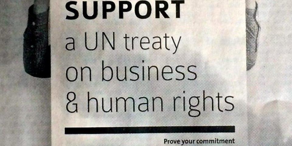 APPEL pour l'élaboration d'un instrument international juridiquement contraignant sur les sociétés transnationales